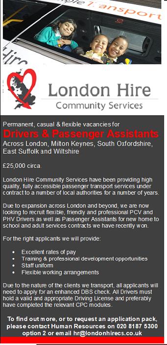 Passenger Assistant - Vacancies - London Hire Community